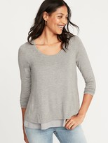 Old Navy Maternity Double-Layer Long-Sleeve Nursing Tee