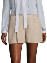 MICHAEL Michael Kors Wide Pleated Linen Shorts