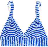 Hanky Panky Striped Stretch-lace Soft-cup Bra - Azure