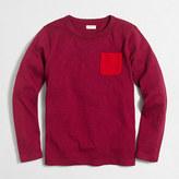 J.Crew Factory Boys' long-sleeve contrast-pocket T-shirt
