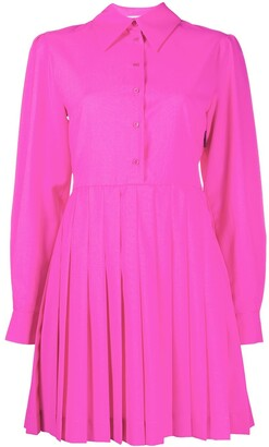 MSGM Pleated Panel Shirt Dress