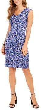 Connected Petite Cowlneck Sheath Dress