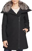Derek Lam 10 Crosby Fur Collar A-Line Parka