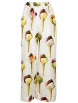 Dolce & Gabbana Cream/multicolor Ice-cream Print Pajama Trousers