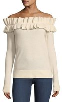 Club Monaco Perrinney Off-the-Shoulder Cashmere Pullover Sweater