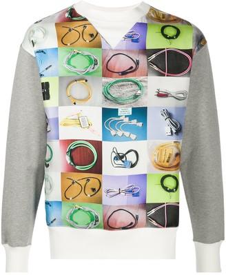 Maison Margiela Electric Cable Print Sweatshirt