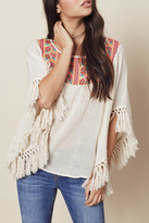 Love Stitch Lovestitch Fringe Poncho Style Top