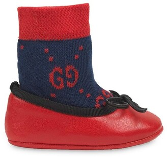 Gucci Kids GG sock ballet flat shoes