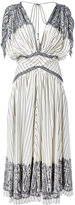Etro stripe and paisley midi dress - women - Silk/Polyester/Acetate - 44
