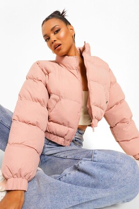 boohoo Crop Puffer Jacket
