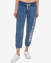 Tommy Hilfiger Cotton Cropped Logo Sweatpants, A Macy's Exclusive