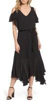 Maggy London Women's Cold Shoulder Midi Dress