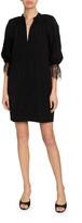 Givenchy Lace-Cuff Shirtdress