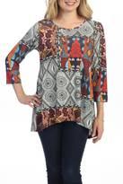 Katina Marie Patchwork Print Tunic