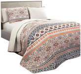 Lush Decor Nesco Quilt Navy and Coral 3-Piece Set, King