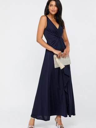 Monsoon Jessie Jersey Twist V Neck Maxi Dress