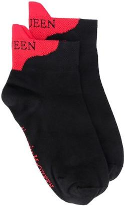 Alexander McQueen Logo Heel-Counter Socks