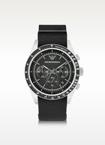 Emporio Armani Sportivo Stainless Steel Men's Watch w/Changeable Canvas Band