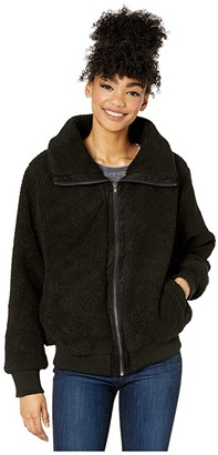 Cotton On Teen Teddy Zip Through Bomber (Black) Girl's Jacket