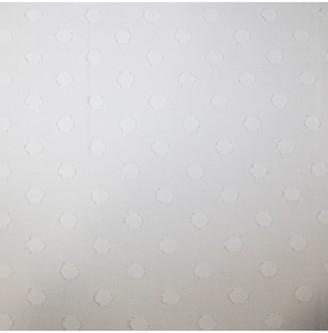 Oddies Textiles Textured Squares Fabric, White Ivory