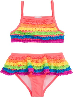 Flapdoodles Rainbow Ruffle Two-Piece Swimsuit