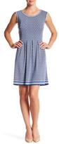 Max Studio Sleeveless Printed Flare Dress