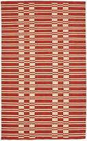 Rejuvenation Vista Ladder Stripe Indoor/Outdoor Rug - Rust