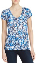 Majestic Filatures Abstract Print V-Neck Tee