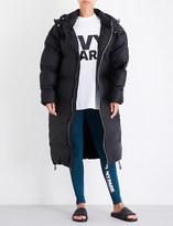 Ivy Park Longline bonded shell puffer coat