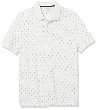 Amazon Essentials Slim-Fit Cotton Pique Polo Shirt White S