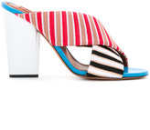 Missoni striped strap mules