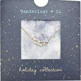 Wanderlust + Co Capricorn Cosmic Necklace in