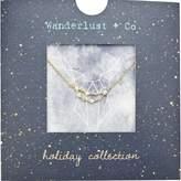 Wanderlust + Co Capricorn Cosmic Necklace in