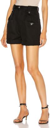 Etoile Isabel Marant Palino Short in Faded Black | FWRD