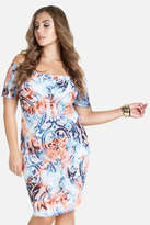 Fashion to Figure Abigail Off Shoulder Swirl Print Dress