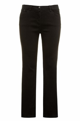 Ulla Popken Women's Best Fit Hose Black Denim Zauberbund Sophie Trouser