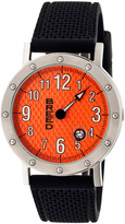 Breed Silver & Orange Richard One-Hand Watch
