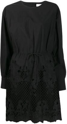 See by Chloe Broderie laser-cut dress