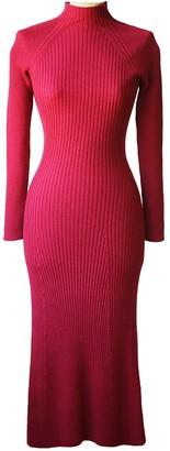 Hatch Burgundy Wool Dress for Women