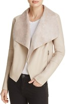 Bagatelle Draped Faux Leather Jacket