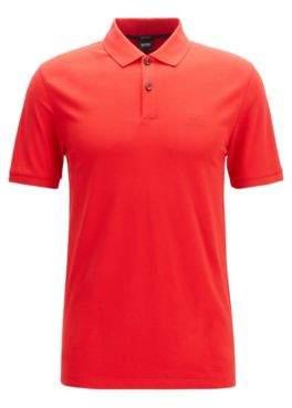 Regular-fit polo shirt in fine piqu