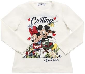 MonnaLisa Minnie & Mickey Mouse L/S Jersey T-Shirt