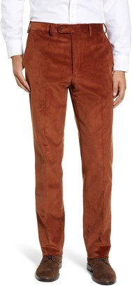 John W. Nordstrom Torino Traditional Fit Flat Front Corduroy Trousers