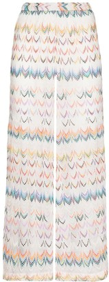 Missoni Mare Chevron Knit Straight Trousers