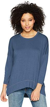 Three Dots Women's Vintage Jersey 3/4 SLV Short Loose top