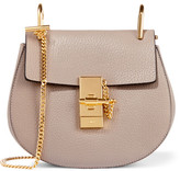 Chloé Drew Mini Textured-leather Shoulder Bag - Gray