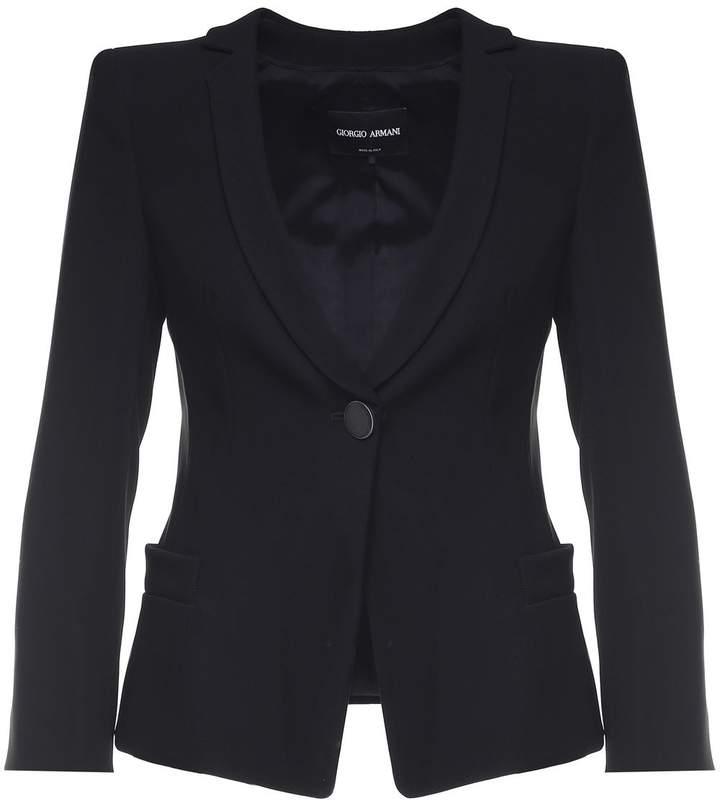 Giorgio Armani Single-breasted Cady Jacket