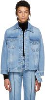 Sjyp Blue Bottom Cut Denim Jacket