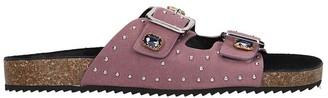Bibi Lou Flats In Rose-pink Suede