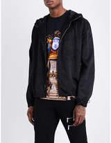 Versace Brand-print Shell Jacket